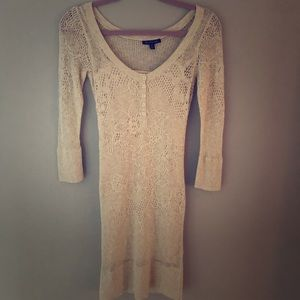 Cream Sweater Dress